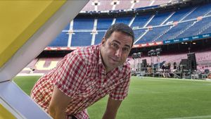 Jordi Herreruela, director del Cruïlla de Barcelona, este martes en uno de los escenarios del festival, el Camp Nou.