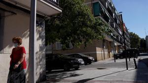 Calle Virgen de Icíar en Alcorcón (Madrid), zona de alta ocupación ilegal de viviendas.