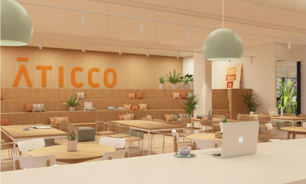 Espacio de coworking de Aticco en Madrid