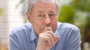 El escritor Félix de Azúa, en una de sus últimas visitas a Barcelona.
