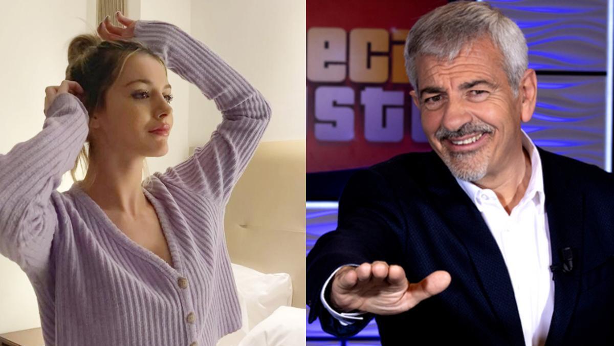 Arianna Aragón ha debutado como azafata de 'El precio justo', que presenta su padrastro, Carlos Sobera.