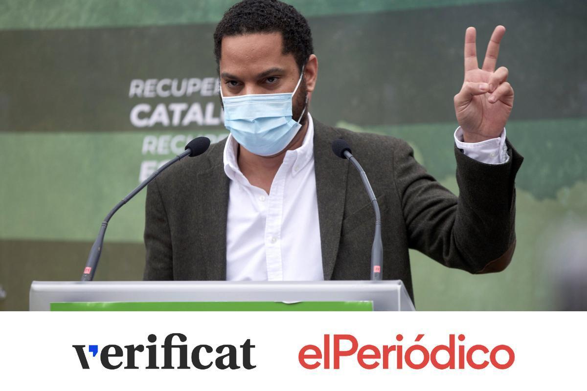 Elecciones catalanas: 4 mentiras de Ignacio Garriga (Vox) sobre la inmigración