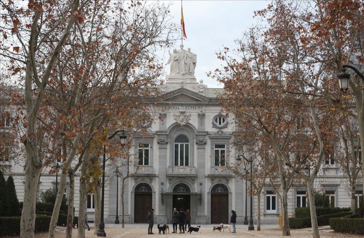 La fachada del Tribunal Supremo, donde en breve se celebrará el juicio al 'procés'
