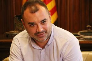 Primer plano del alcalde de Terrassa, Jordi Ballart