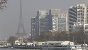 París bajo la contaminación, en marzo del 2014.