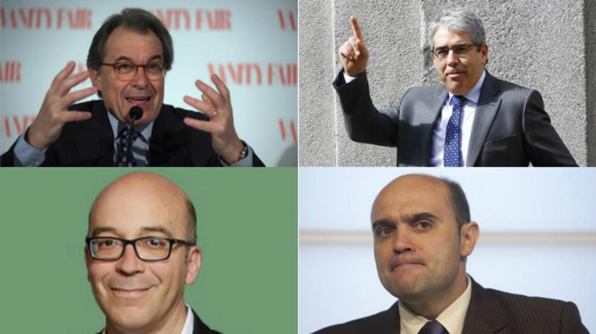 Artur Mas, Francesc Homs, Oriol Soler y Xavier Vendrell.