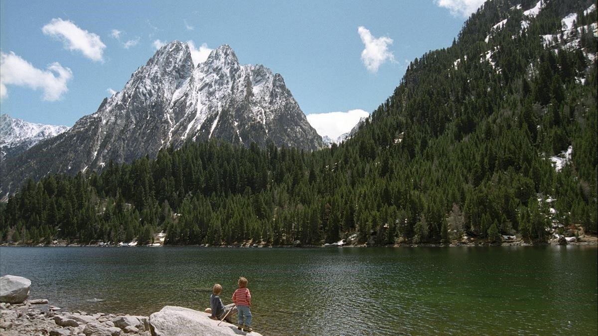 La montaña de los Encantats, en el Parc Nacional d'Aigüestortes i Estany de Sant Maurici