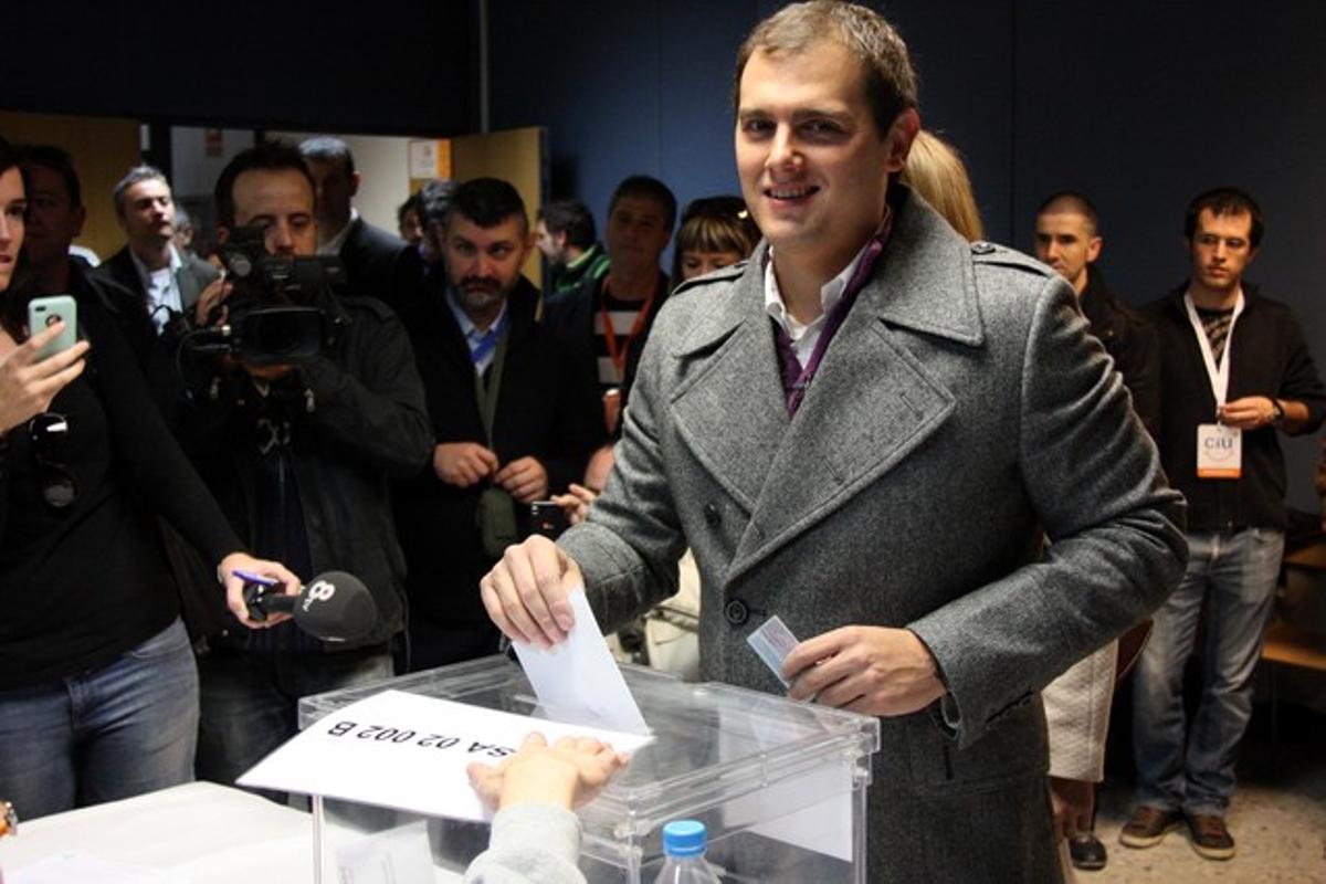 Albert Rivera vota en La Garriga