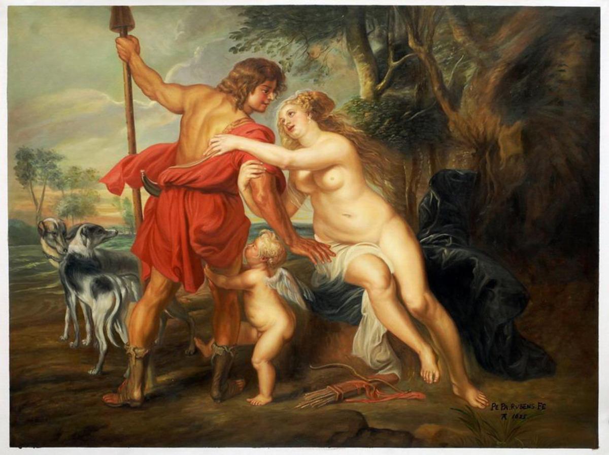 'Venus y Adonis', de Rubens.