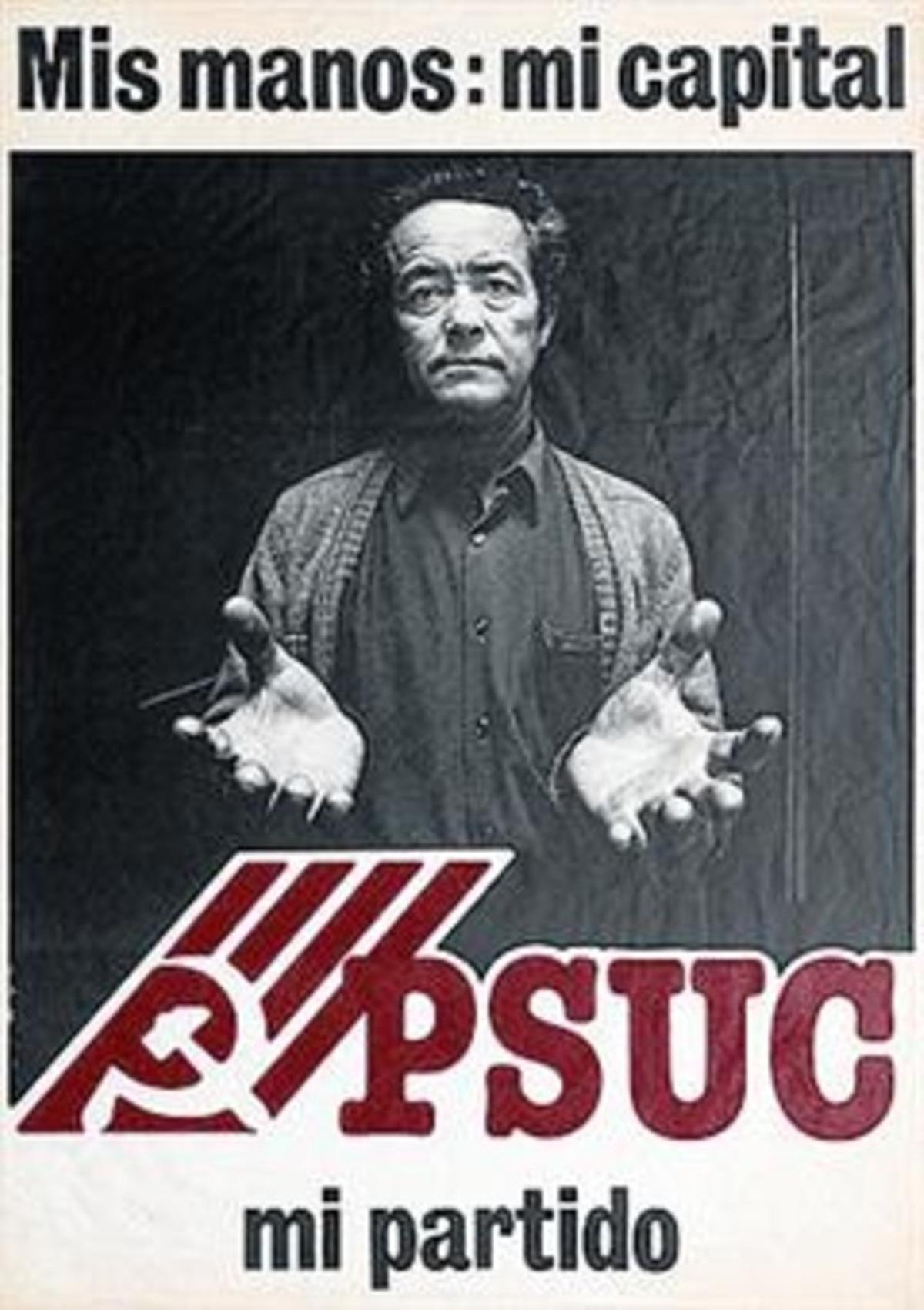 Cartel del PSUC de 1977.