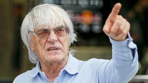 El magnate británico y patrón de la F-1, Bernie Ecclestone.