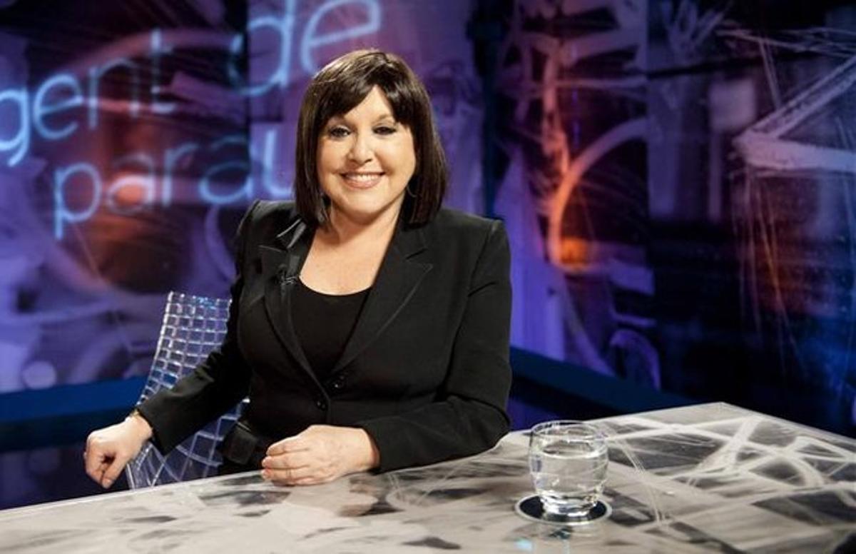 La actriz Loles León, en el programa de TVE 'Gent de paraula'.