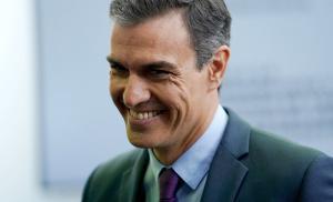 Pedro Sánchez, en su comparecencia del martes en la Moncloa.