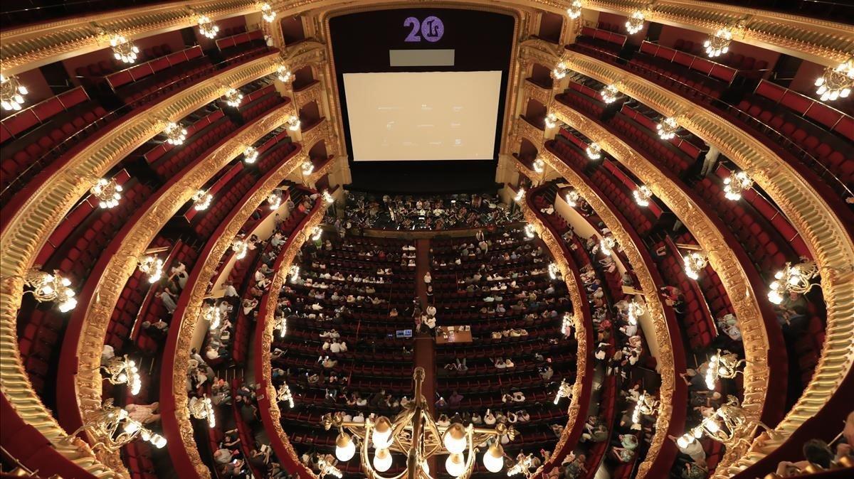 Un ensayo el pasado noviembre en el Liceu, que celebra el 20º aniversario de su reconstrucción.