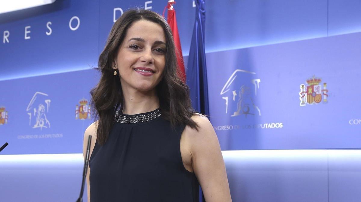 Inés Arrimadas, en el Congreso de los Diputados, en una imagen del 2019.