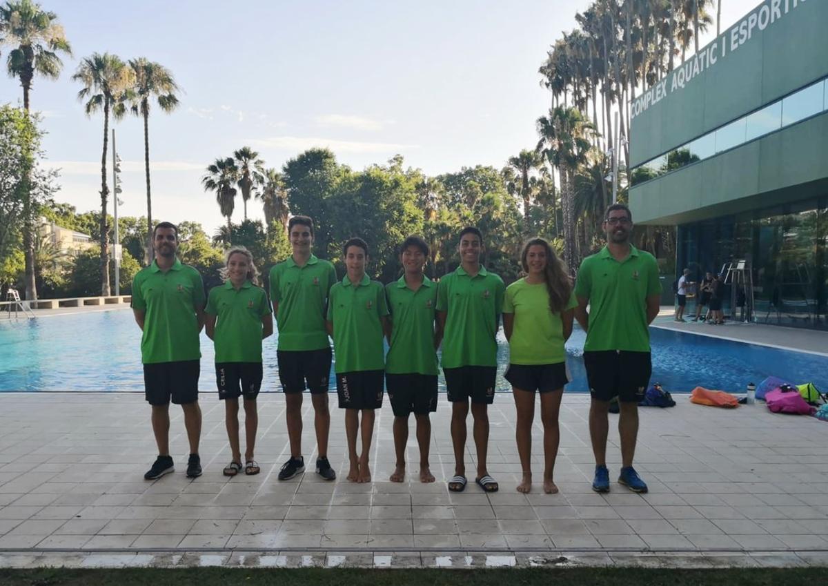 Representación cornellanense en los campeonatos de España Alevín, Infantil y Júnior de Natación