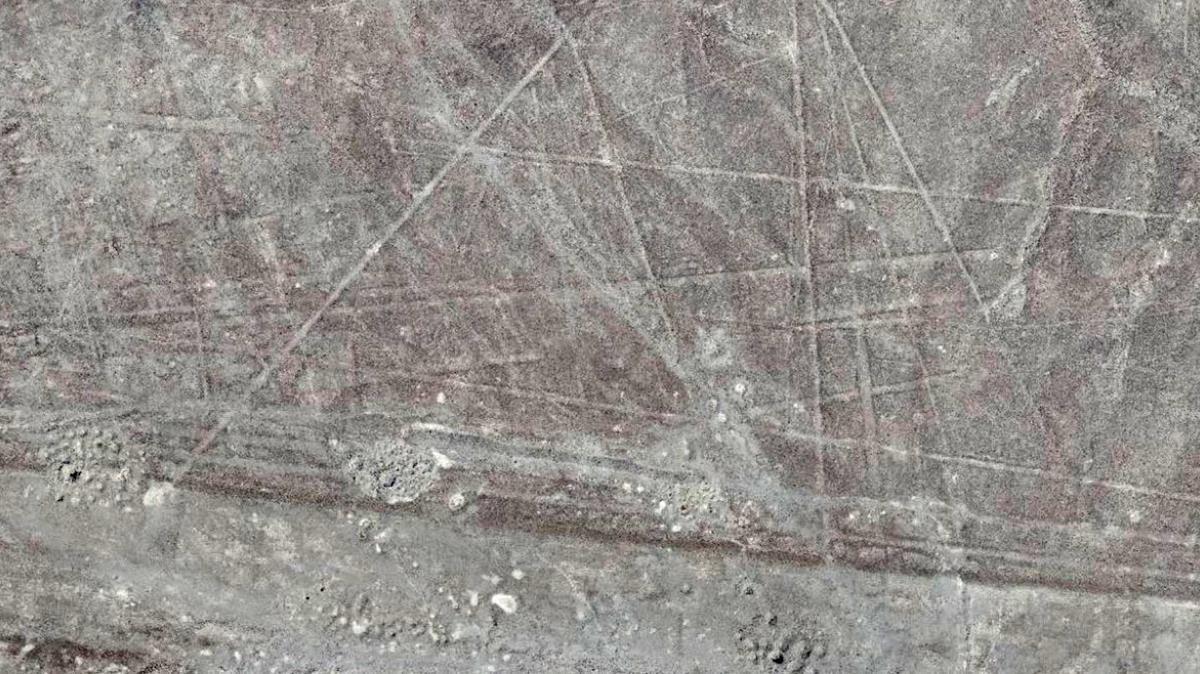 Geoglifos o líneas talladas en el suelo localizados en el valle de Palpa, en el sur de Perú.