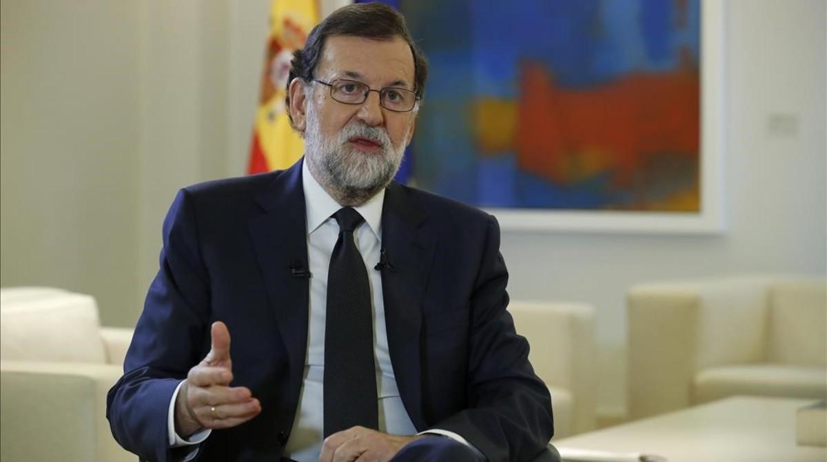 El jefe del Ejecutivo, Mariano Rajoy, el pasado jueves en la Moncloa, durante una entrevista que dio a la Agencia Efe.