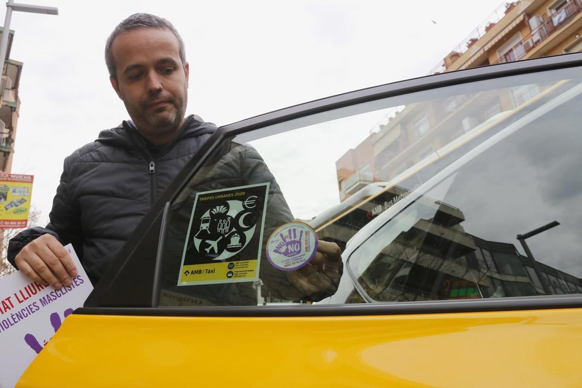 Santa Coloma implica els taxistes en la lluita contra la violència masclista