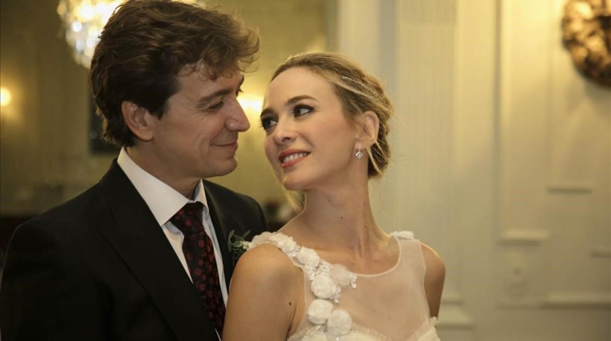 Marta Hazas y Javier Veiga se dan el 'sí, quiero' en Santander.