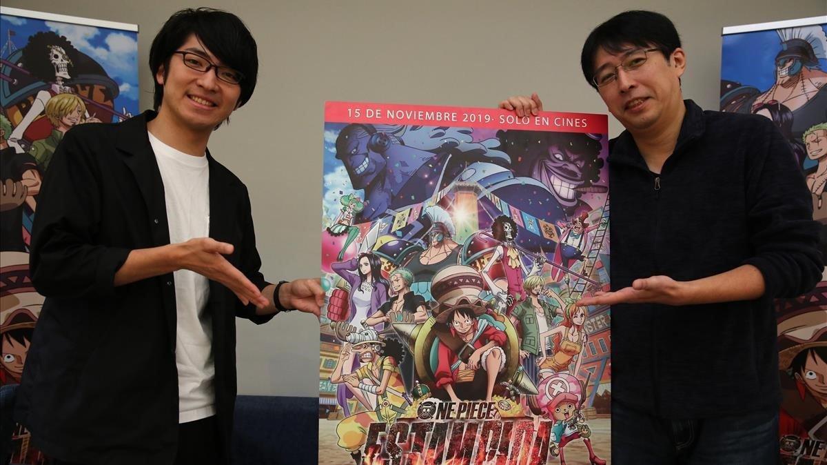 Hiroki Koyama y Masayuki Sato, productor y diseñador de personajes, respectivamente, de 'One Piece: Estampida', en el Manga Barcelona.