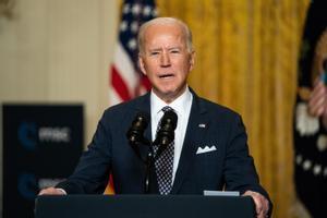 El presidente de EEUU, Joe Biden, en una comparecencia en la Casa Blanca este viernes.