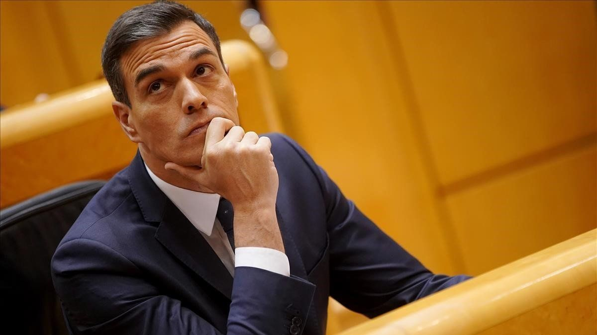 El presidente del Gobierno, Pedro Sánchez, en el Pleno del Senado del pasado 18 de diciembre.