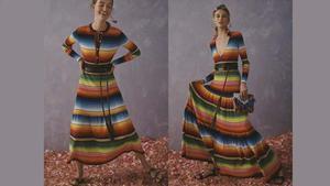 La nueva colección de Carolina Herrera genera controversia en México. En la foto, dos modelos de la colección Resort 2020 de Carolina Herrera.