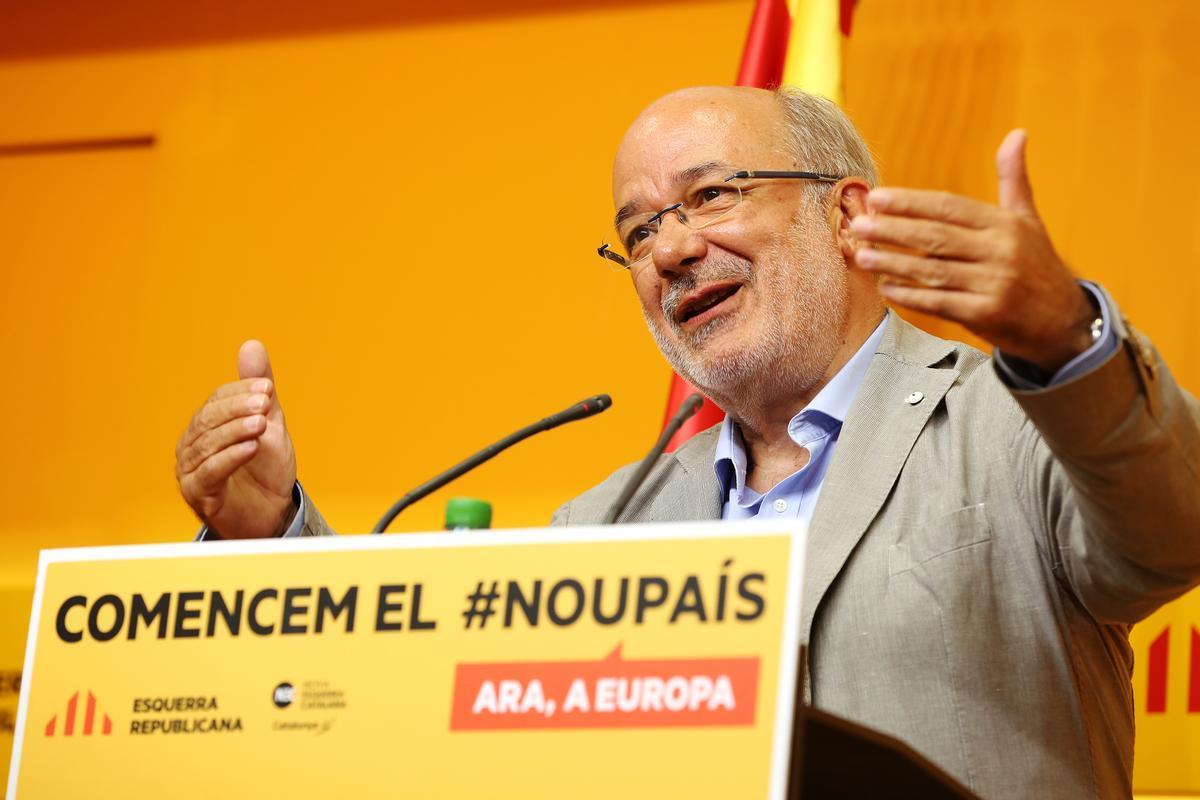 Rueda de prensa de Josep Maria Terricabrasy Ernest Maragall para valorar resultados.