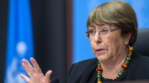Michel Bachelet, el pasado 9 de diciembre, durante un acto en Ginebra.