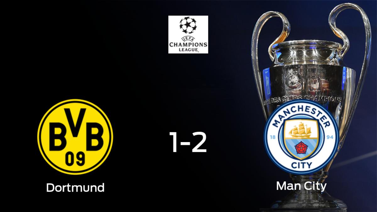 El Manchester City pasa a la siguiente fase de la Champions League tras ganar 1-2 al Borussia Dortmund