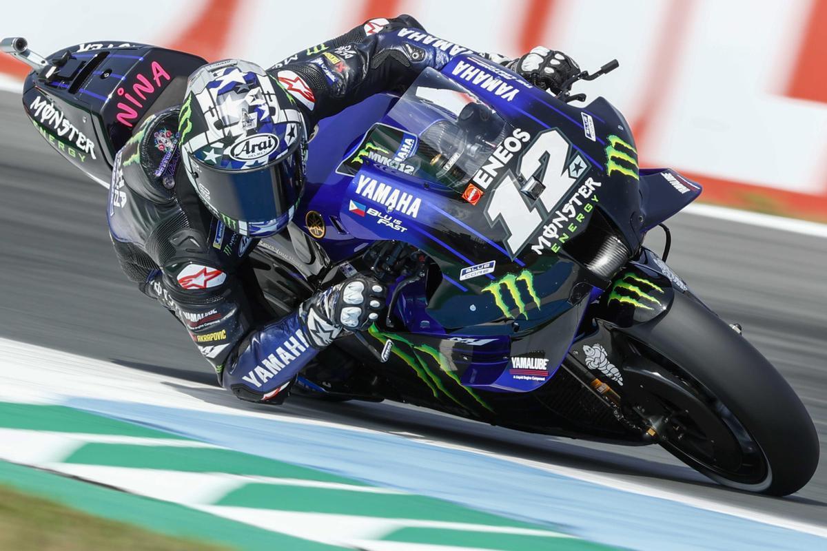 Maverick Viñales (Yamaha) saldrá desde la pole en el GP de Holanda.