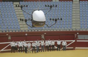 Presentación del prototipo de aerotaxi en la plaza de toros de San Sebastián, en 2019