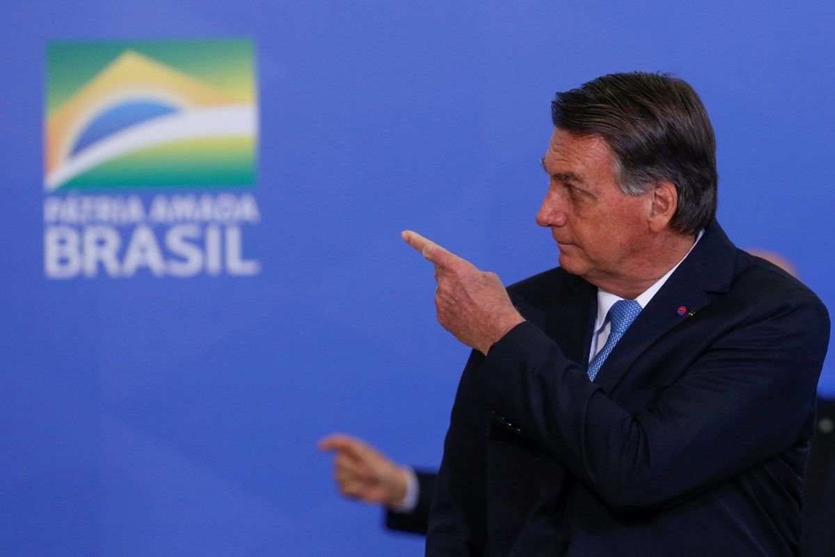 El presidente brasileño, Jair Bolsonaro, durante una ceremonia de graduación militar.
