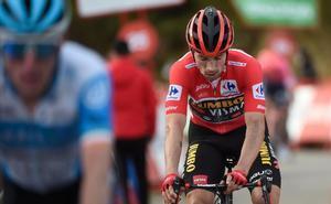 Primoz Roglic, líder de la Vuelta.