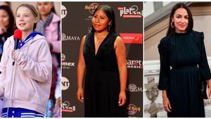Greta Thunberg, Yalitza Aparicio y Alexandria Ocasio-Cortez.