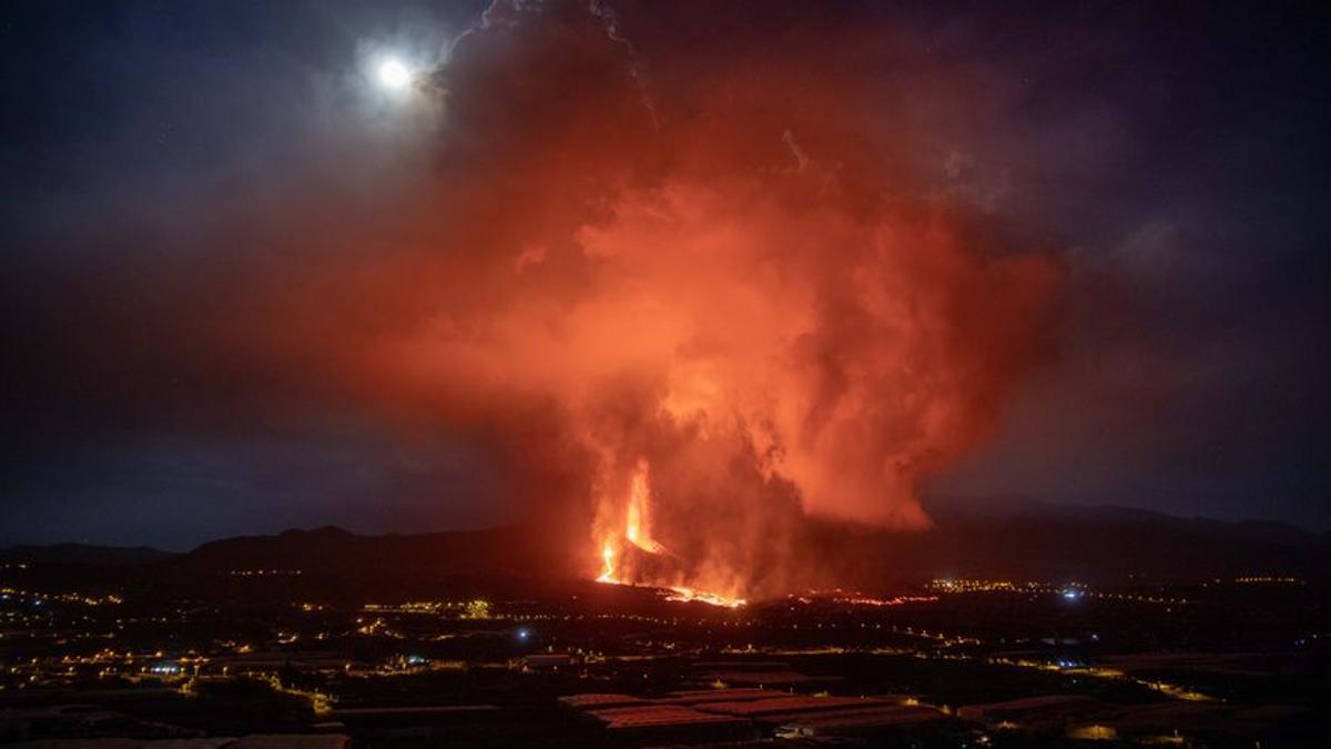 El volcán de Cumbre Vieja, a 25 de septiembre de 2021, en La Palma, Islas Canarias (España)