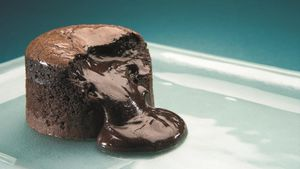 Un 'coulant' de chocolate.