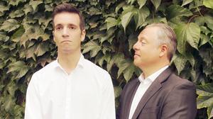 Carlos Goñi (izquierda) y Jordi Gràcia, protagonistas de 'Protesta'.