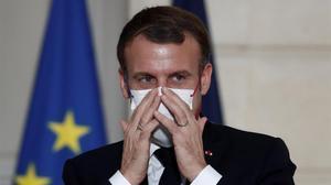 Emmanuel Macron en una reunión diplomática este martes.