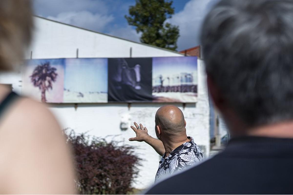Una visita guiada durante el festival La Nuu, en una imagen de archivo.