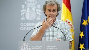 Fernando Simon  durante la rueda de prensa en la que informó sobre los últimos datos del coronavirus.
