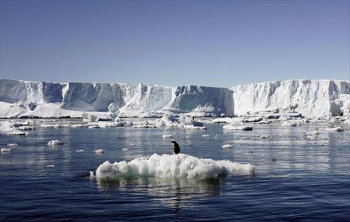 Paisaje antártico cerca de la base francesa de Dumont D'Urville.