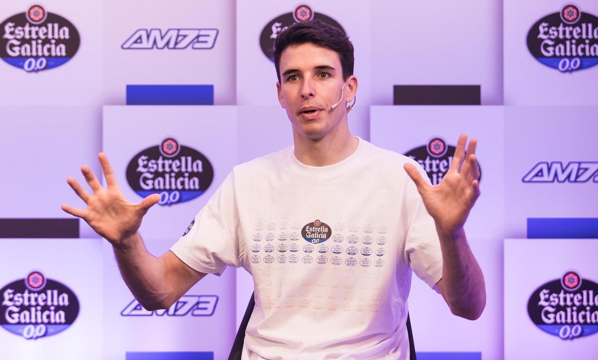 Alex Márquez, durante su charla de hoy con El Periódico de Catalunya.