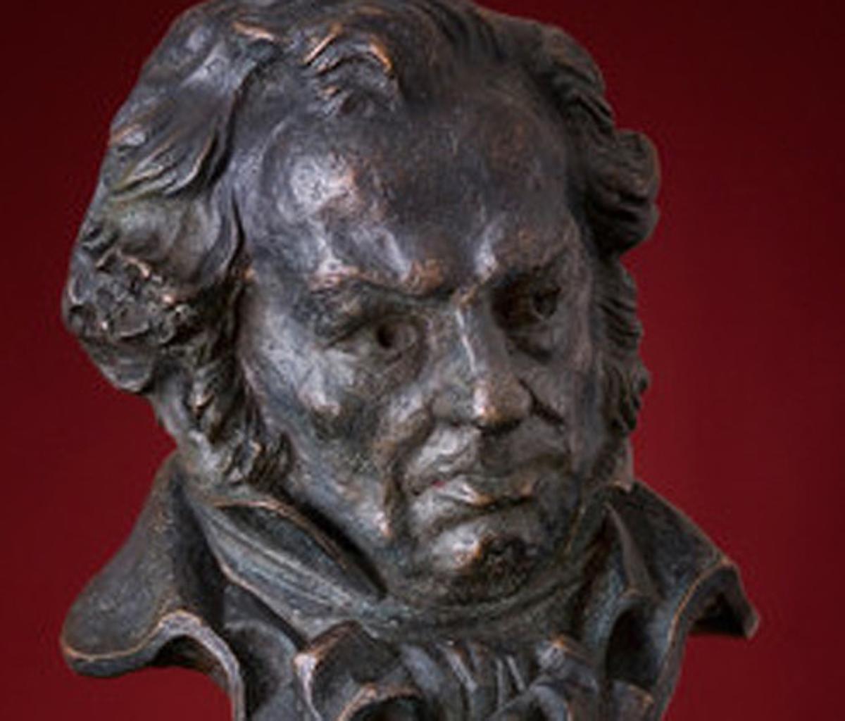 La estatuilla de los premios Goya.