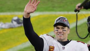 Tom Brady, feliz por su nuevo viaje a otra Superbowl.