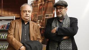 Enrique Vila-Matas y Emilio Manzano, en la sede de la Filmoteca.