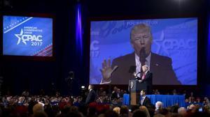 Donald Trump, durante su intervencion en la Conferencia anual de Accion Politica Conservadora (CPAC), en Washington