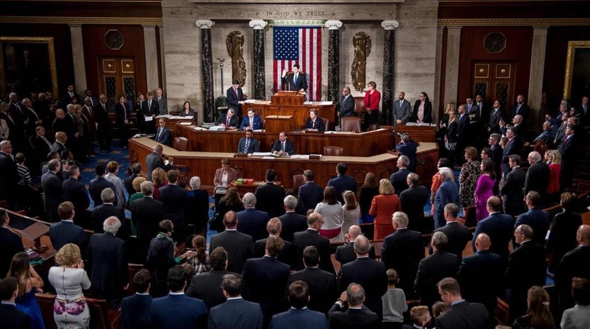 Juramento de la nueva Cámara de Representantes.