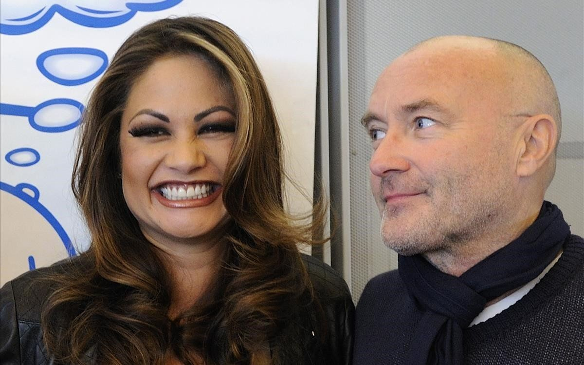 Orianne Cevey y Phil Collins.